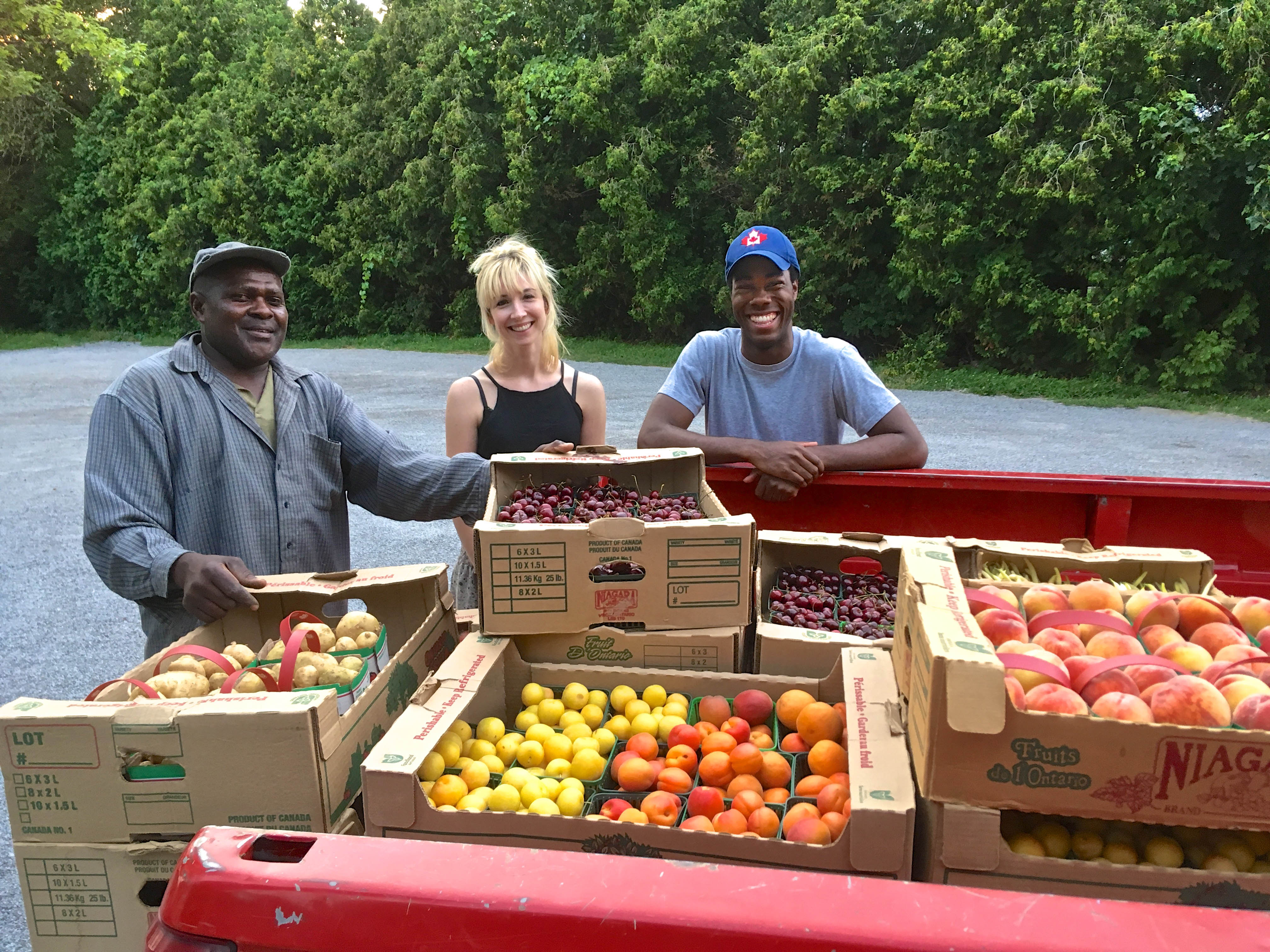 Delivering meal tickets for the Peach Pickers Picnic to the farms thanks to the generosity of Shaw Festival!